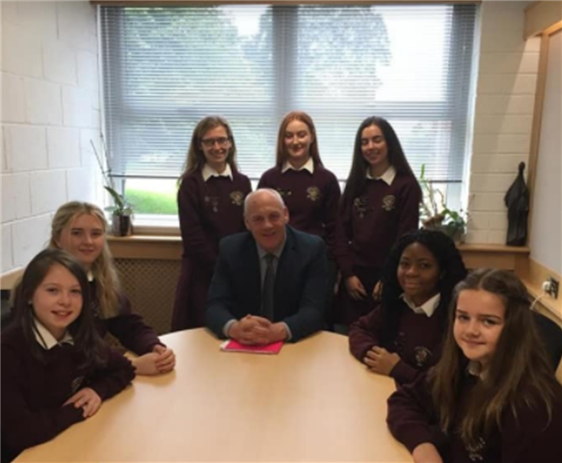 Head Girl, Deputies, PM Coordinators, Mr Kelly, 1st years 2019-2020.png