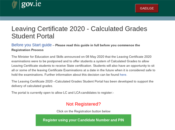Calculated Grades Portal - Please opt in to receive grades on the 7th September
