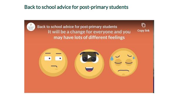 "DES Videos for parents re ""Back to sachool"""