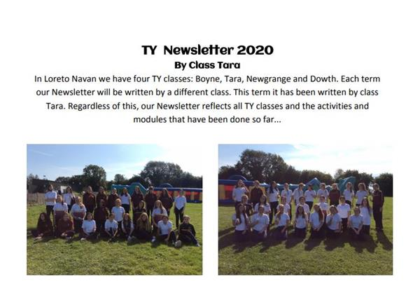 TY Newsletter Aug - October 2020
