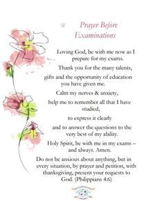 Prayer for Exams